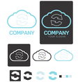 Sync Cloud Computing company logo template vector image