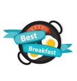 Breakfast OBreakfast Scrambled Eggs with Sausage vector image