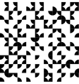 Abstract geometric seamless pattern with black vector image