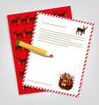 Christmas letter to Santa Claus vector image
