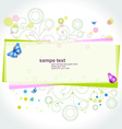 colorful abstract design vector image