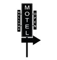 motel signboard vector image
