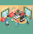 nursing home isometric vector image
