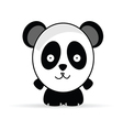 sweet and funny panda animal vector image