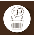 chopped bread basket vector image