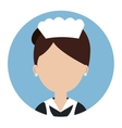 housekeeper service hotel isolated icon vector image