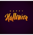 Happy Halloween Background with Hand vector image