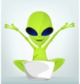 Cartoon Alien vector image vector image