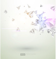 White Diamonds Background vector image