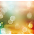 Abstract bokeh blurry light dot background vector image