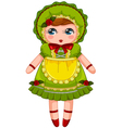 vintage doll vector image