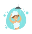 Girl Washing Hair In Shower Part Of People In The vector image