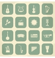 Retro Musical Instruments Icons vector image vector image