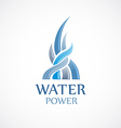 Upstream water flows logo template vector image vector image