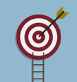 target with arrow and ladder vector image