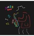 Neon Sign Saxophone Jazz vector image