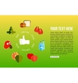 Organic food flat style design quality control vector image