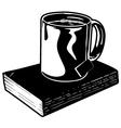 Mug of Tea and Book vector image