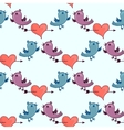 Pattern with Two birds and heart broken stele vector image vector image