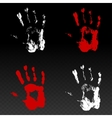 Colored prints of human hand vector image