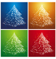 four christmas trees vector image