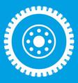 gear wheel icon white vector image