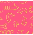 seamless patterndoodle arrow set vector image