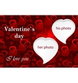Valentines photo frame vector image