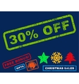 30 Percent Off Rubber Stamp vector image
