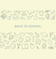 back to school banner with icons school symbols vector image