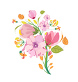 Flower Bouquet Watercolor Clipart vector image