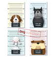 Mugshot of cute dogs holding a banner 2 vector image