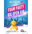Foam Party summer Open Air Foam party poster or vector image