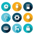 Candy Shop Icons Set vector image