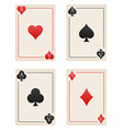 casino cards ace stock vector image