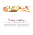 colorful sewing workshop vector image
