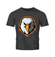 furious eagle head athletic club logo vector image