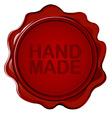 Hand made wax seal vector image