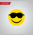 isolated sunglasses flat icon happy vector image