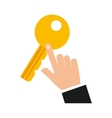 key security symbol flat icon vector image