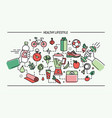 line art flat colorful healthy vector image