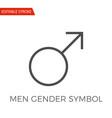 men gender symbol icon vector image