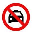 No taxi parking vector image