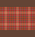red brown check square pixel seamless background vector image