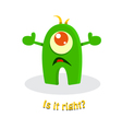 Funny cute cartoon monster vector image vector image