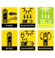 solar battery charge recharge vector image vector image