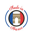 made in france stamp vector image