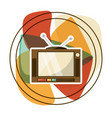 retro entertainment television technology vector image