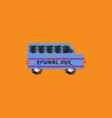 flat icon design collection school bus vector image