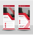 red business roll up banner flat design vector image